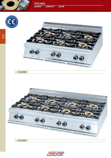 Catalogo comercial Eurast Cocinas Gama 900