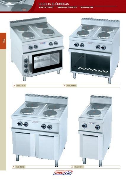 Catalogo comercial Eurast Cocinas eléctricas Gama 750