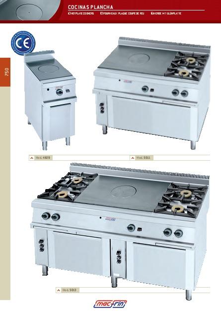 Catalogo comercial Eurast Cocinas plancha Gama 750