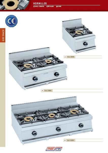 Catalogo comercial Eurast Hornillos 600SNACK