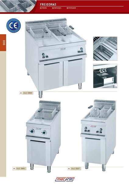 Catalogo comercial Freidoras Eurast Gama 900