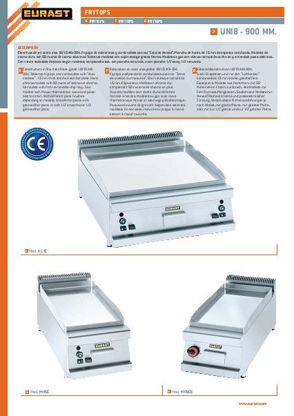 Catalogo comercial Frytops EURAST Gama 900