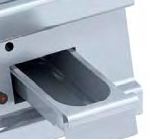 Detalle Frytops a gas de sobremesa Eurast Gama 750
