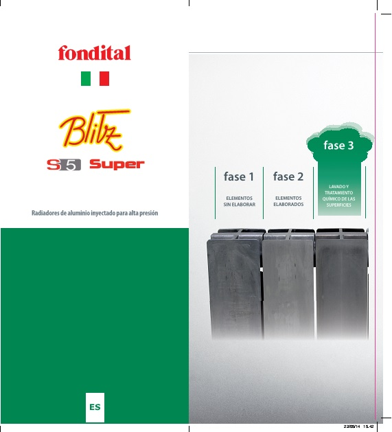 Catalogo Radiador de aluminio Fondital BLITZ