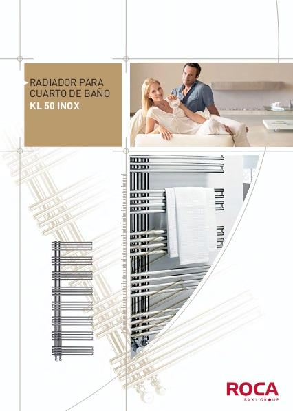 Catalogo comercial radiador toallero Baxi KL 50 INOX