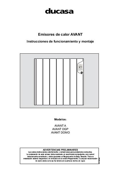 Manual Ducasa Emisores de calor AVANT