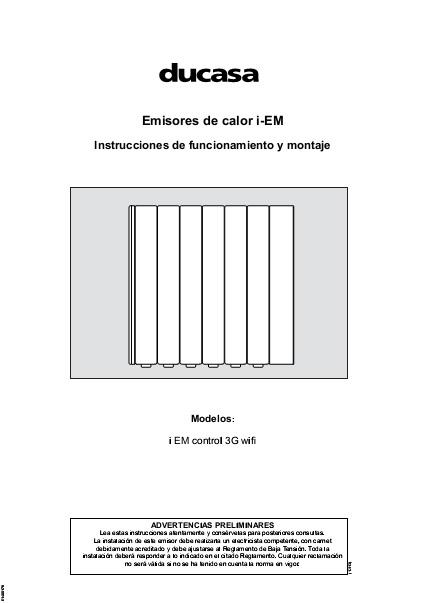 Manual Emisores de calor Ducasa i-EM