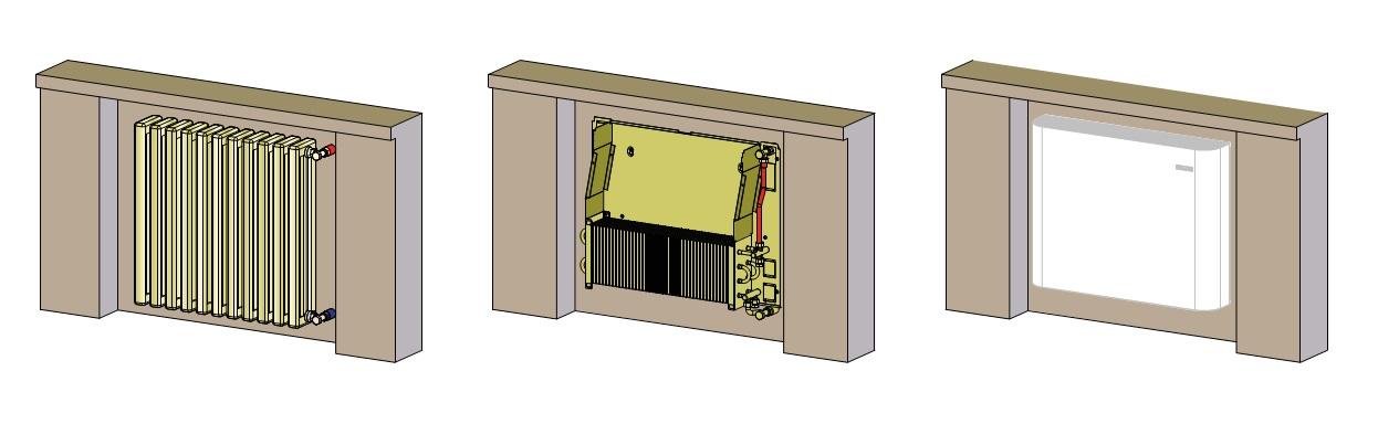 Sustitución de radiadores std por Fancoils Tecna THERMOFON