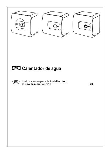 Instrucciones para Termos sobre lavamanos CHX
