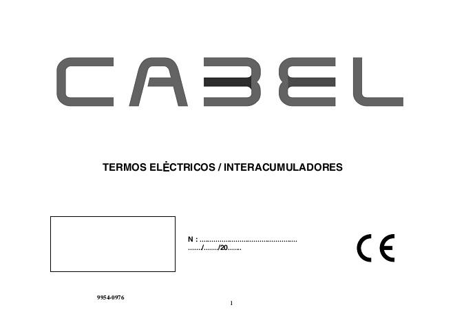 Manual tecnico Termos eléctricos Cabel