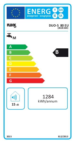 Termo eléctrico Fleck DUO5 80 EU - Etiqueta Energetica