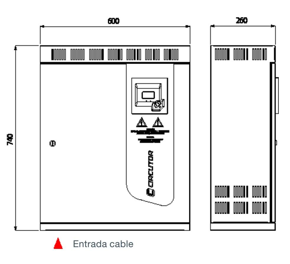 Batería de condensadores Circutor OPTIM 5 - Dimensiones