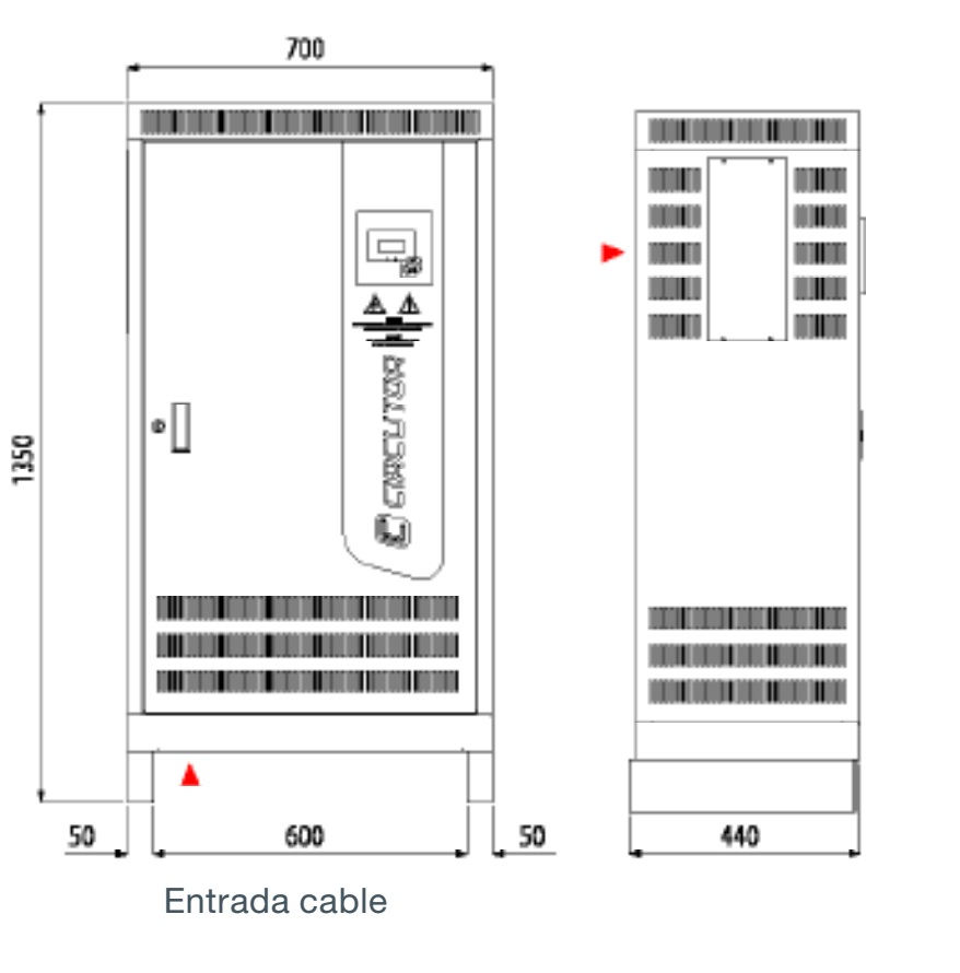 Batería de condensadores Circutor OPTIM 9 - Dimensiones