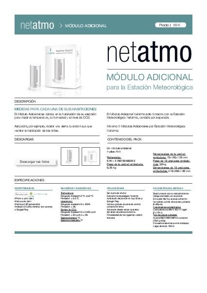 Ficha Módulo adicional de Interior Netatmo