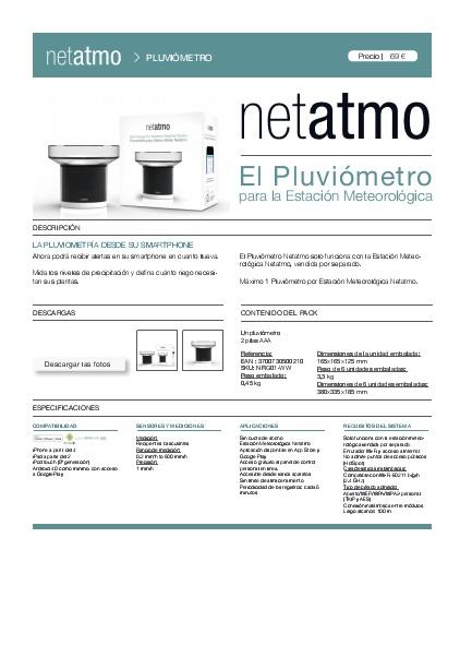 Ficha Pluviómetro Netatmo