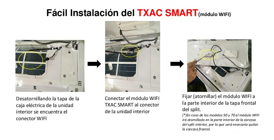 Instalación módulo WIFI Baxi TXAC SMART