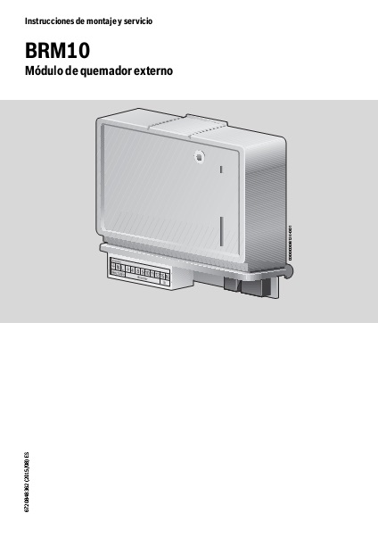 Instrucciones de montaje y servicio Control quemador externo Junkers
