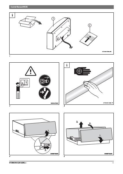 Instrucciones de sustitución frontal MX25