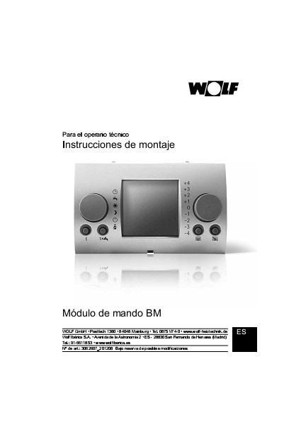 Manual Unidad de mando Wolf BM