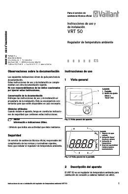 Super Termostato Modulante Vaillant VRT 50 (eBus) CY33