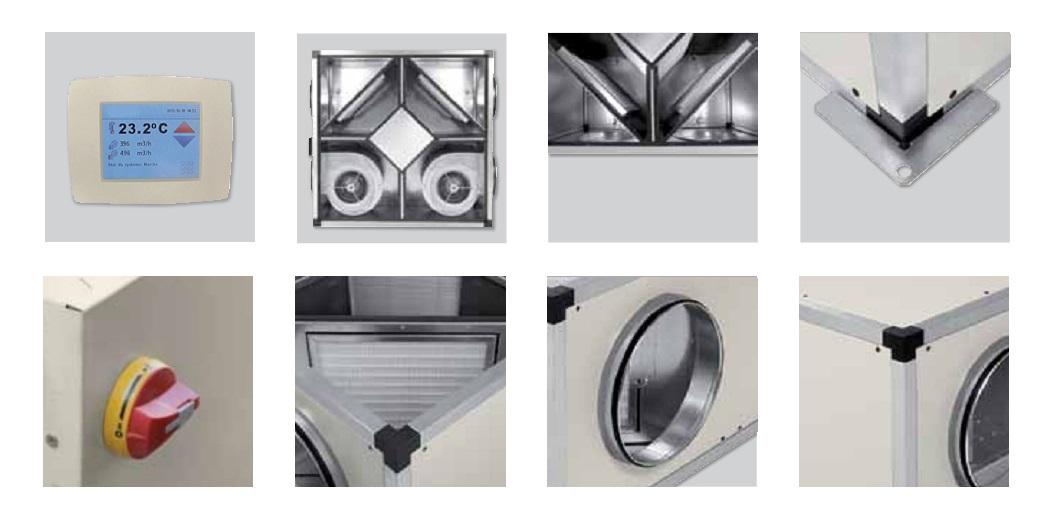 Detalles Recuperadores de calor SP CADB T-N PRO-REG