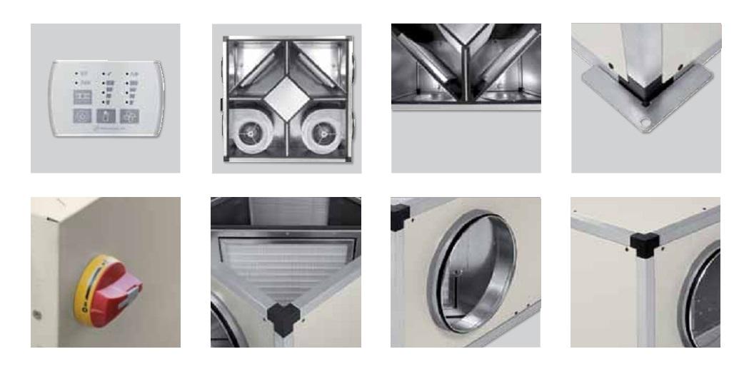 Detalles Recuperadores de calor SP CADB T-N TERMO-REG
