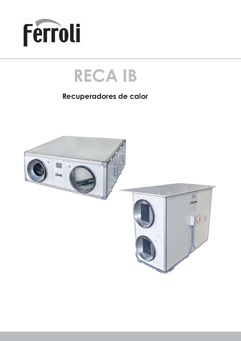 Ficha Recuperadores de calor Ferroli RECA IB