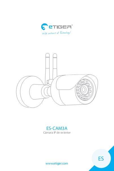 Manual Camara IP exterior eTIGER ES-CAM3A