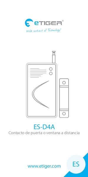 Manual Contacto de puerta o ventana a distancia eTIGER ES-D4A