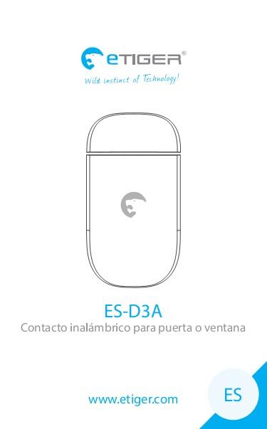 Manual Contacto inalámbrico para puerta o ventana eTIGER ES-D3B
