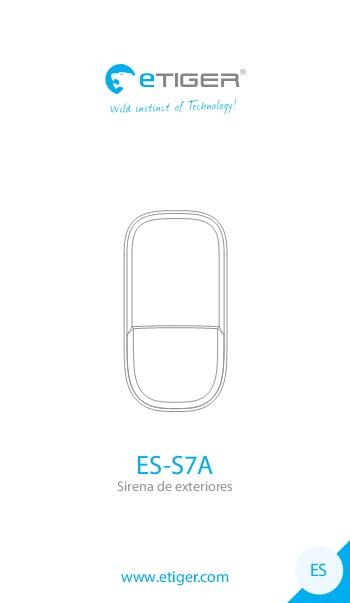 Manual Sirena de exteriores eTIGER ES-S7A