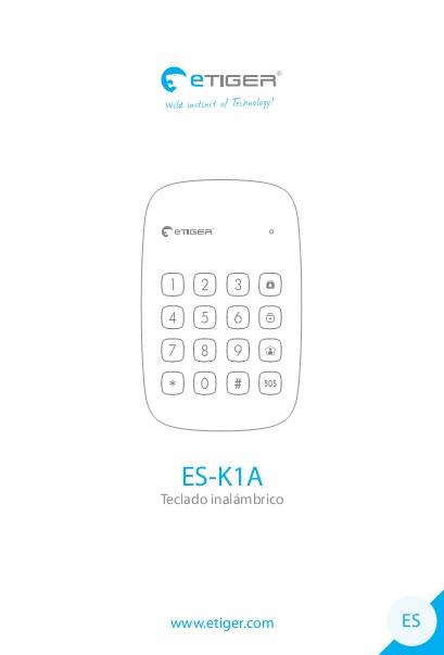 Manual Teclado inalambrico eTIGER ES-K1A
