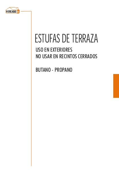 Catalogo Estufa de exterior Mercagas MERCASOL