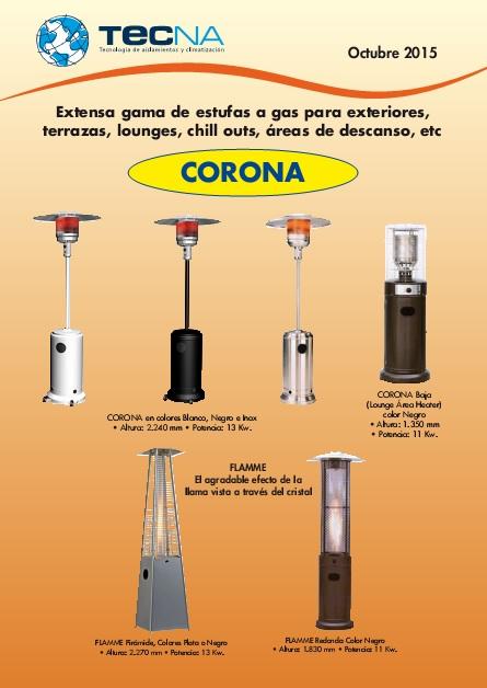 Catalogo y Tarifas estufas de exterior Tecna Octubre-2015