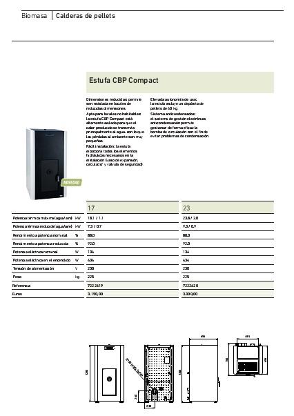Ficha producto Estufa CBP Compact Baxi
