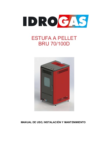 Manual Usuario Estufa de Pellets Idrogas BRU 7 kW