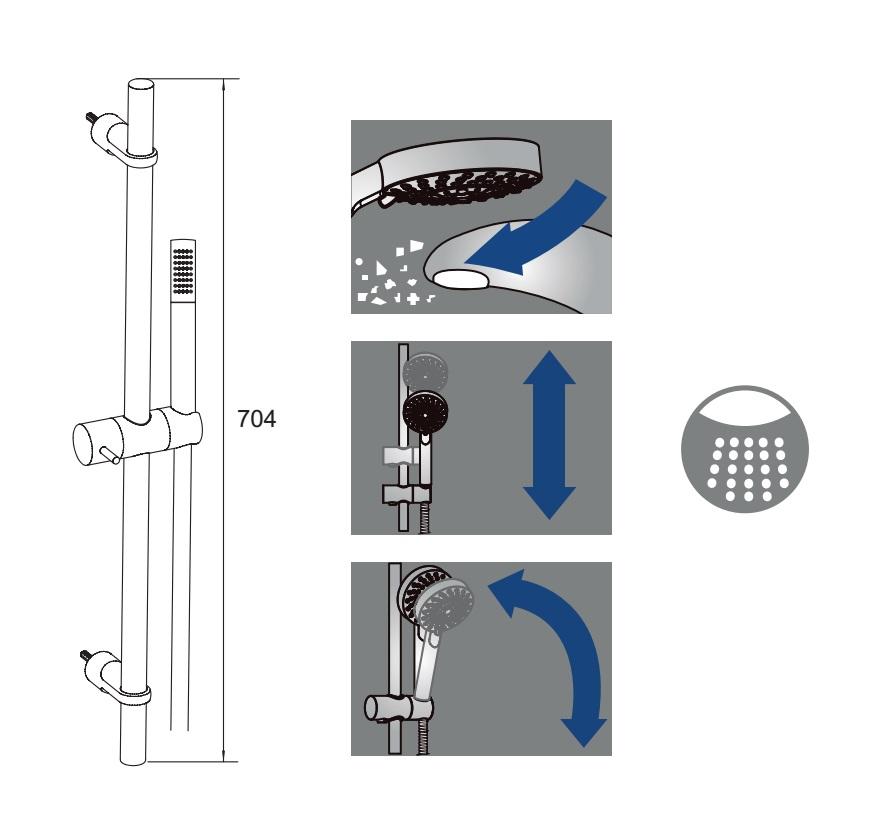 Conjunto de ducha Alterna Egeo - Detalles