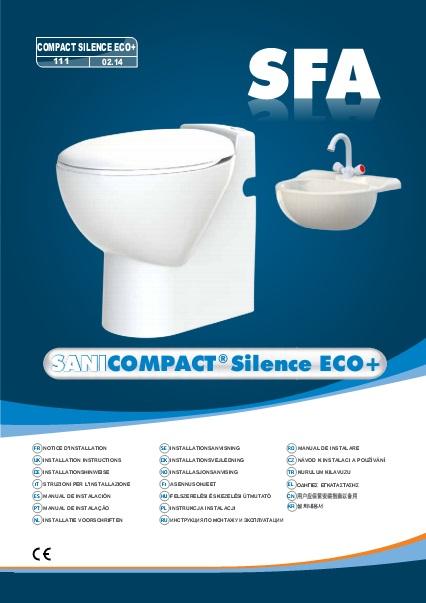 Inodoro con triturador incorporado SFA SANICOMPACT C4 ECO - Manual de Instalacion