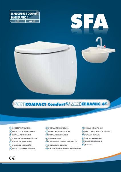 Inodoro con triturador incorporado SFA SANICOMPACT CONFORT - Manual de Instalacion