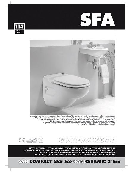 Inodoro con triturador incorporado SFA SANICOMPACT STAR - Manual de Instalacion