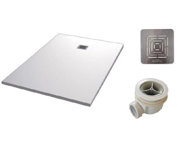 Plato de ducha resina Alterna Vulcano - Conjunto