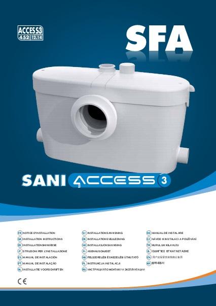 Triturador sanitario SFA SANIACCESS 3 - Manual de instalacion