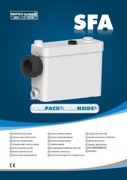 Triturador sanitario SFA SANIPACK - Manual de instalacion