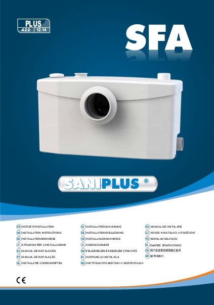 Triturador sanitario SFA SANIPLUS - Manual de instalacion