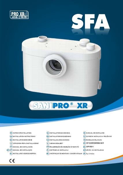 Triturador sanitario SFA SANIPRO - Manual de Instalacion