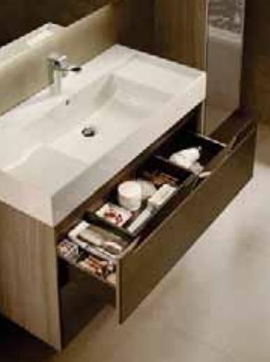 Mueble base roca inspira para lavabo sobre encimera 1000 mm for Mueble para lavabo sobre encimera