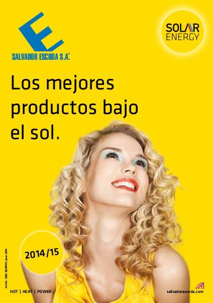 Catalogo comercial Captador solar Salvador Escoda ALPIN