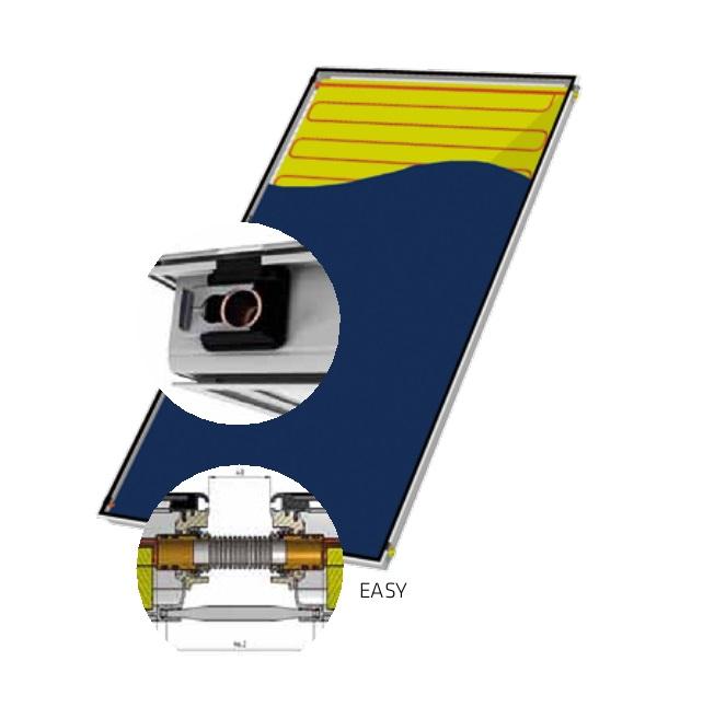 Detalle Captador solar Salvador Escoda ALPIN EASY