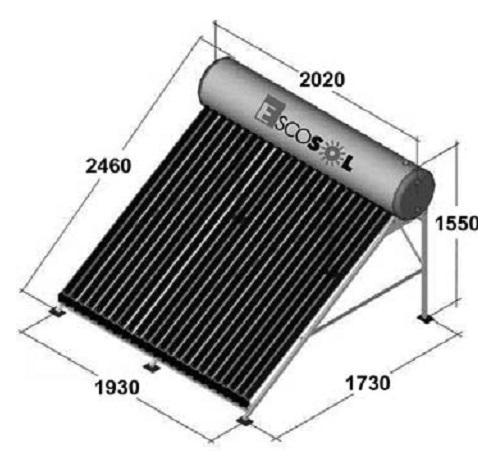 Dimensiones Sistema termosifon Salvador Escoda Escosol compacto HP