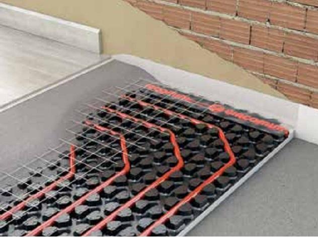 Tubo en polietileno reticulado giacomini giacotherm r996y143 - Pavimento para suelo radiante ...